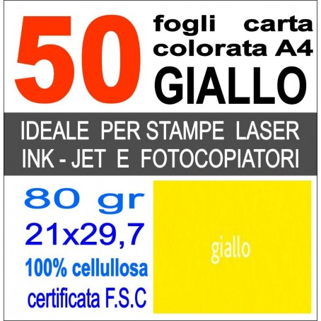 Risma carta color fucsia A4 - 80gr 50ff - monocolore