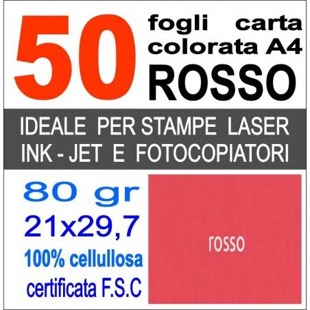 Risma carta color rosa A4 - 80gr  50ff  - monocolore