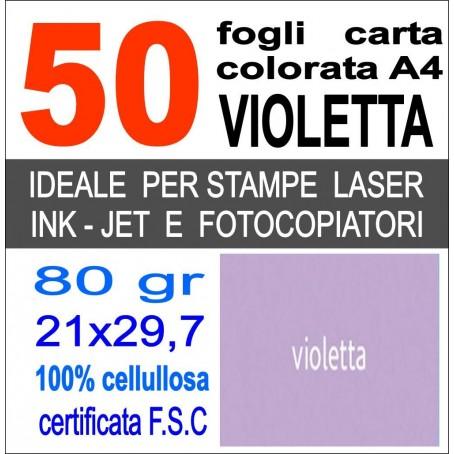Risma carta color verde A4 - 80gr 50ff - monocolore