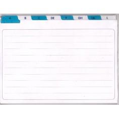 Divisori rubrica A - Z - 8x10,5 - Alfabetiere rubrica per schede -