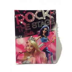 Barbie carpetta con elastico - dorso 1,5 cm con 3 alette