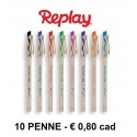10 Penne PaperMate Replay New Cancellabile - nero, rosso, blu e verde