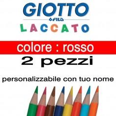 2 pastelli Giotto laccato mina 3,3 mm - colore rosso