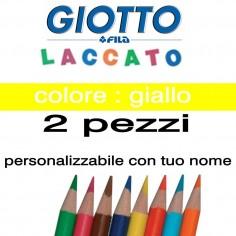 2 pastelli Giotto laccato mina 3,3 mm - colore giallo - GIOTTO LACCATO SFUSO
