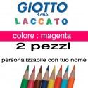 2 pastelli Giotto laccato mina 3,3 mm - colore magenta - GIOTTO LACCATO SFUSO
