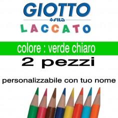 2 pastelli Giotto laccato mina 3,3 mm - colore verde chairo - GIOTTO LACCATO SFUSO