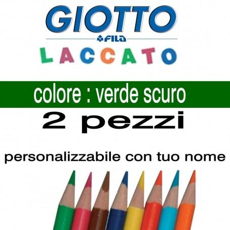 2 pastelli Giotto laccato mina 3,3 mm - colore verde scuro - GIOTTO LACCATO SFUSO