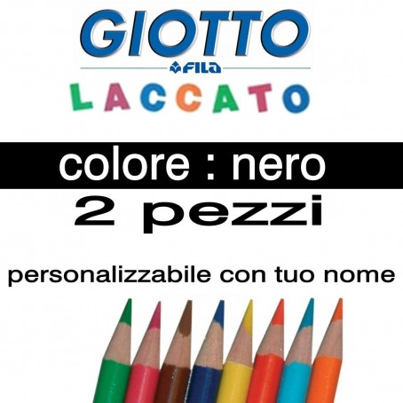 2 pastelli Giotto laccato mina 3,3 mm - colore nero - GIOTTO LACCATO SFUSO