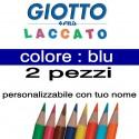 2 pastelli Giotto laccato mina 3,3 mm - colore blu - GIOTTO LACCATO SFUSO