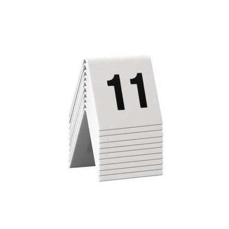 Numeri per tavoli da 11 a 20 per ristoranti, bar pizzerie ecc - in pvc bianco bifacciale