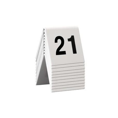 Numeri per tavoli da 21 a 30 per ristoranti, bar pizzerie ecc - in pvc bianco bifacciale