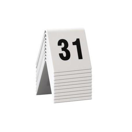 Numeri per tavoli da 31 a 40 per ristoranti, bar pizzerie ecc - in pvc bianco bifacciale