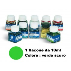 Inchiostro di china verde scuro (7) pelikan - flacone da 10ml