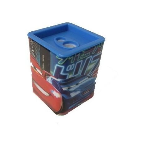 Temperino con serbatoio Cars a 2 fori - temperamatite con contenitore