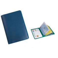 Porta carte di credito e tessere magnetiche - 6 posti - in PVC blu