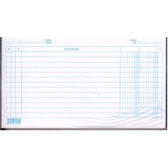 Schede dare avere saldo 15x21 -  100 pz - orizzontali - schede a righe per schedario