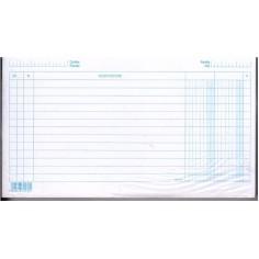 Schede dare avere saldo  10,5x15 - 100 pz - orizzontali - schede a righe per schedario