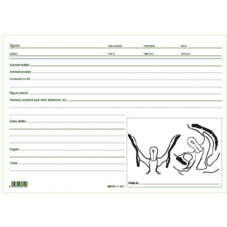 Schede per ginecologi 17x24 doppie - 50 pz - schede ginecologiche