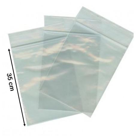 100 buste trasparenti con chiusura a pressione - 25x35 - bustine zip