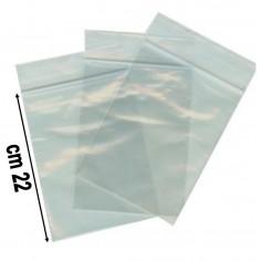 100 buste trasparenti con chiusura a pressione - 15x22 - bustine zip