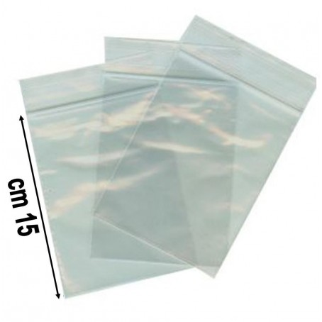 100 buste trasparenti con chiusura a pressione - 10x15 - bustine zip