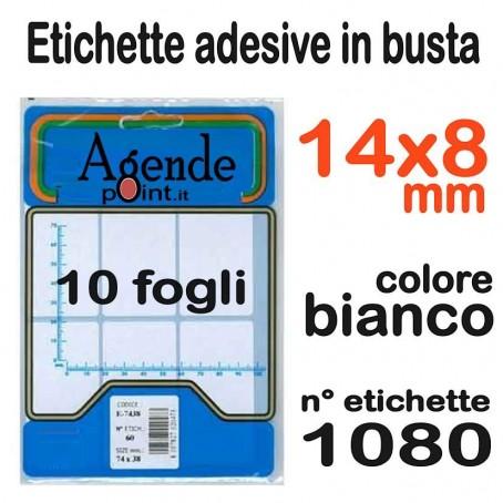 Etichette adesive bianche 14X8 - 1080 etichette