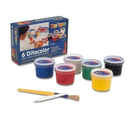 TEMPERE DITA Scatola 6 colori in barattolo 100 g + accessori