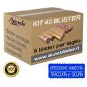 40 blister per monete - tagli assortiti - (5 pezzi per taglio) contenitori per euro