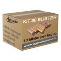 80 blister contenitori per monete euro assortiti 10 pezzi per taglio in plastica trasparente