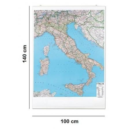 Carta geografica murale Italia stradale  - 100x140