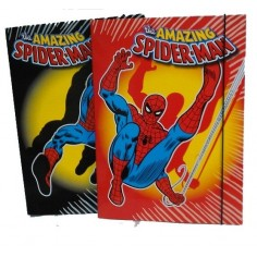 Spiderman the amazing carpetta con elastico - dorso 1 cm