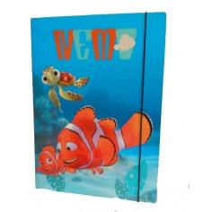 Nemo carpetta con elastico - dorso 1,5 cm  con 3 alette