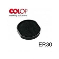 Tampone cuscinetto per timbro Colop ER30 nero - timbro rotondo
