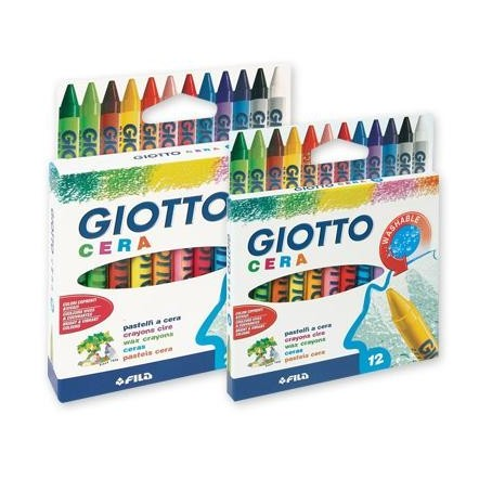 Pastelli a cera ad olio Giotto - 12 pz