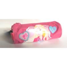 Barbie tombolino rotondo con cerniera - rosa