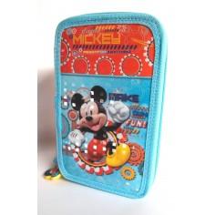 Topolino Disney Astuccio portacolori a 3 zip completo accessori GIOTTO
