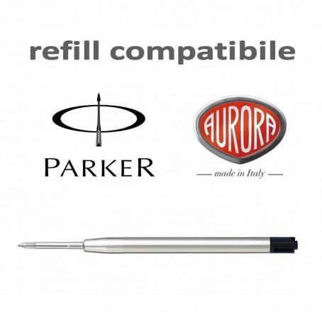 Refill ricambio Compatibile Parker punta M nera -  ricarica per penne tipo Aurora