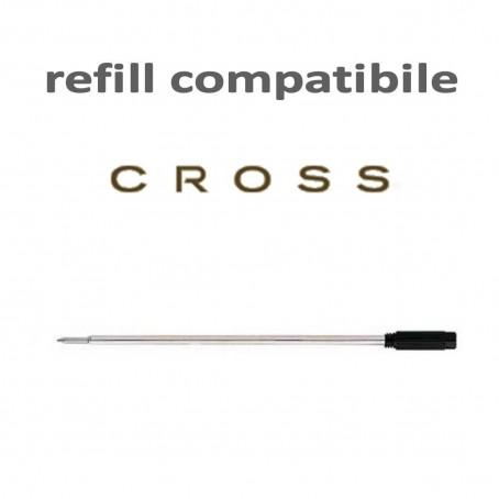 Refill ricambio compatibile Cross punta M nero - ricarica per penne tipo Cross