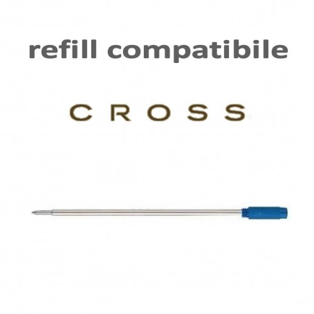 Refill a sfera  tipo cross - ricarica per penne con filettatura - blu