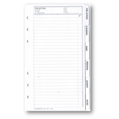 Ricambio divisori bianchi plastificati 9,5x17 - per agende organizer