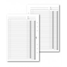 Ricambio fogli Scadenzario 14x21,5 - 30 fogli per agenda organizer