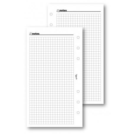 Ricambio fogli a quadri bianco 9,5x17 - per agenda organizer