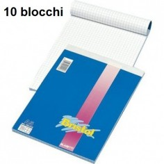 Blocco notes 21x29 A4 quadri 5 mm - 10 pezzi