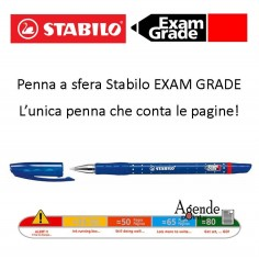 Penna a sfera stabilo exam grade blu - la penna che conta le pagine