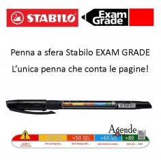 Penna a sfera stabilo exam grade nera - la penna che conta le pagine