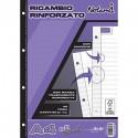 Ricambi forati rinforzati rig B 40 ff 90 gr per carpette ad anelli