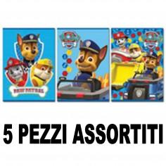 Maxi quaderno Paw Patrol rigo 5mm vari soggetti 5 pezzi