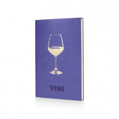 Libro de vini in ecopelle 24x18 viola