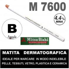 Matita dermatografica 7600 mitsubishi Bianca matita per pelle plastica metallo vetro