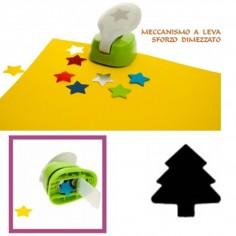 Perforatore a leva per Eva Foam carta crepla  forma albero di Natalecraft punch